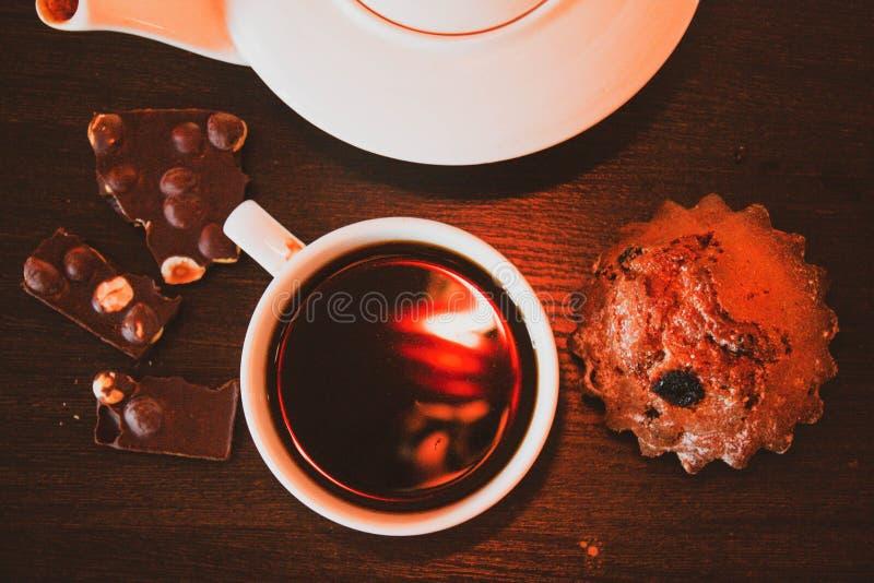 食用一份好咖啡 库存图片