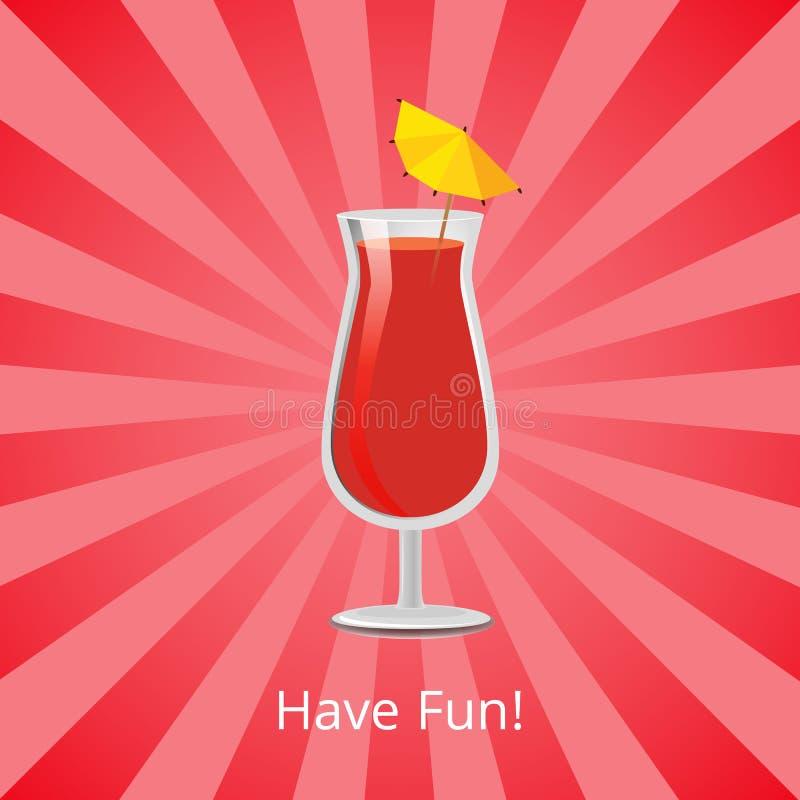 食用乐趣夏天饮料葡萄柚汁和伏特加酒 皇族释放例证