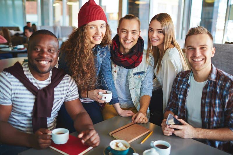 食用的朋友咖啡 库存照片