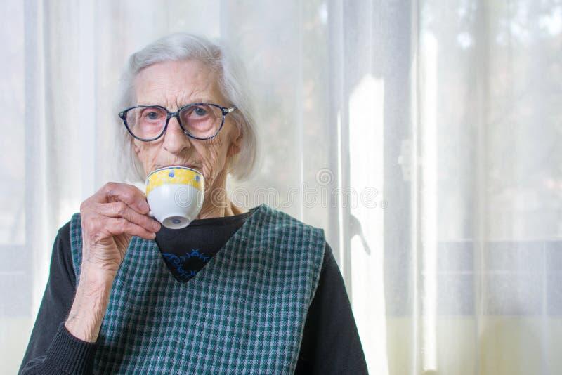 食用的祖母咖啡户内 库存照片