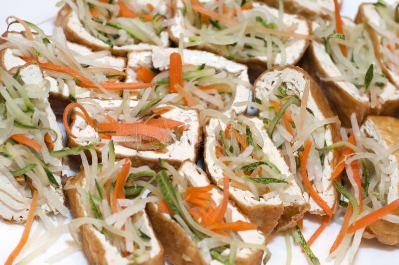 素食者被充塞的豆腐 免版税库存照片