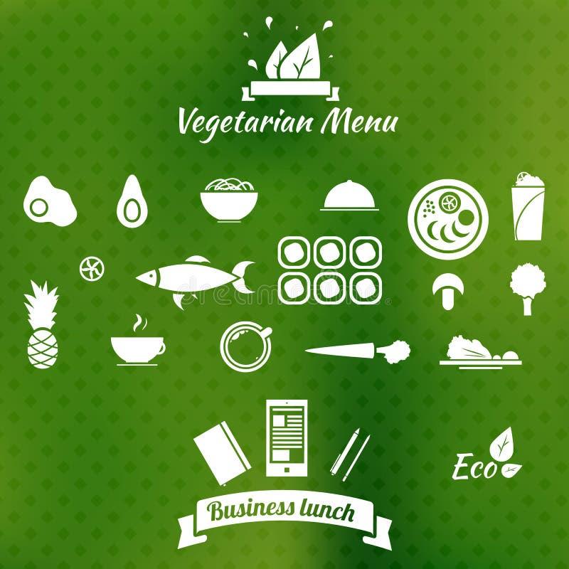 素食菜单象 向量例证