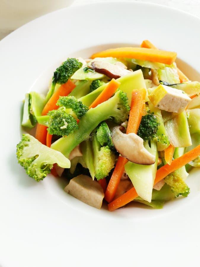 素食菜单 图库摄影