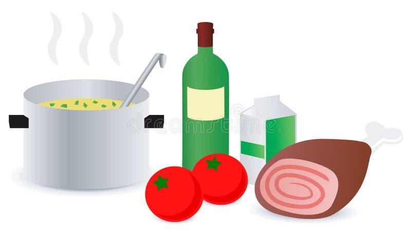 食谱汤 向量例证