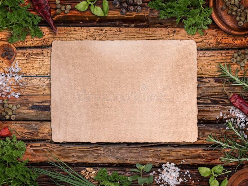 食谱的纸张 免版税库存图片