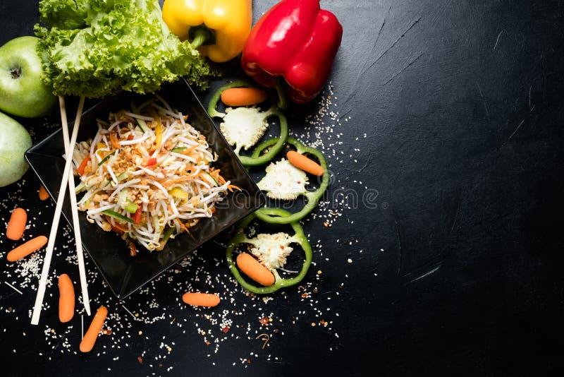 食谱膳食越南烹调麦子新芽素食者 免版税库存图片
