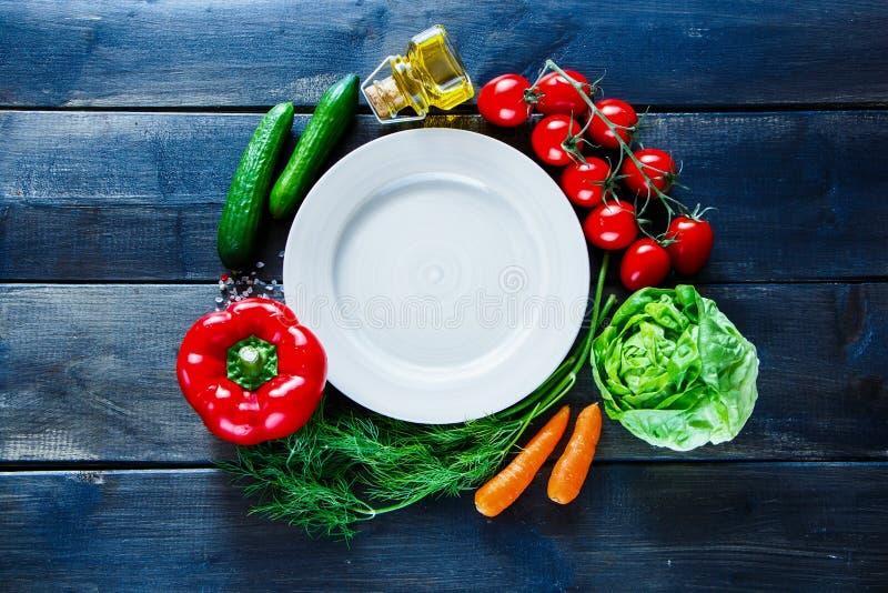 素食主义者和饮食烹调 库存图片
