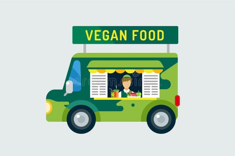 素食主义者城市食物汽车象 自然产品,维生素 皇族释放例证