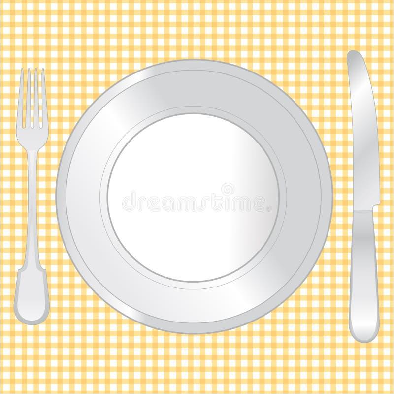 餐位餐具dinning的集接近。 皇族释放例证
