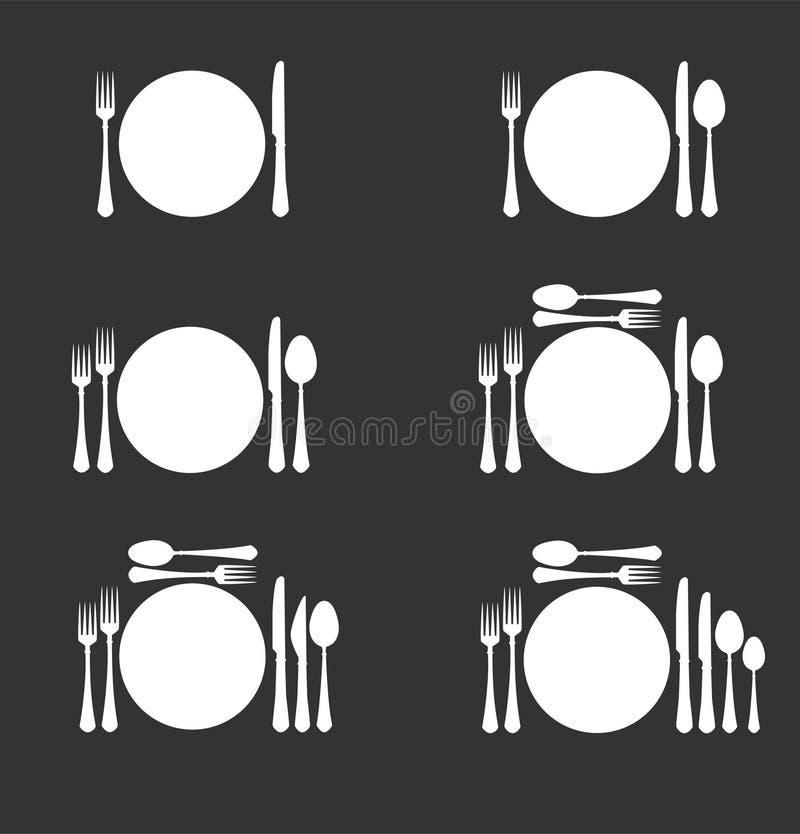 餐具六 皇族释放例证