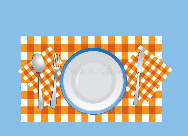 餐具桌布向量 向量例证