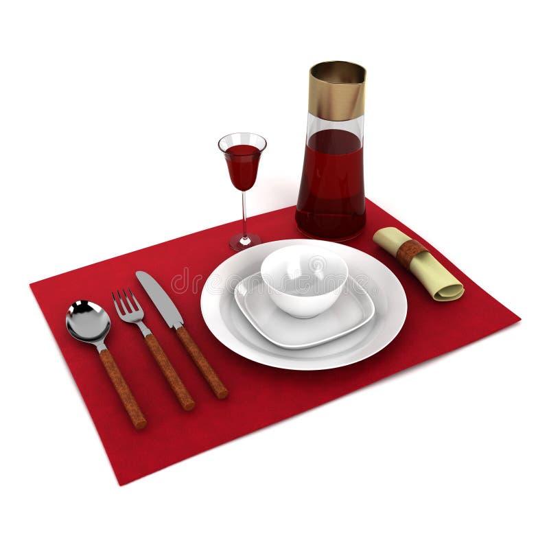 餐具 皇族释放例证