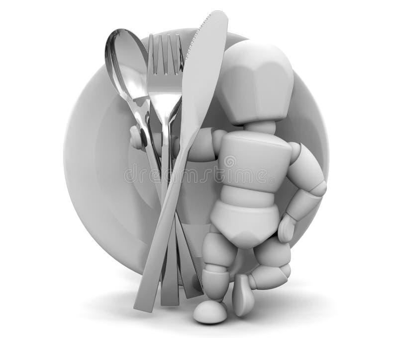 餐具 向量例证
