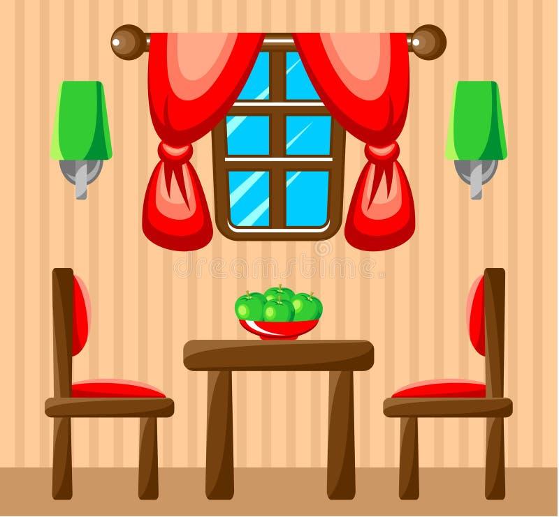 餐厅内部。 皇族释放例证