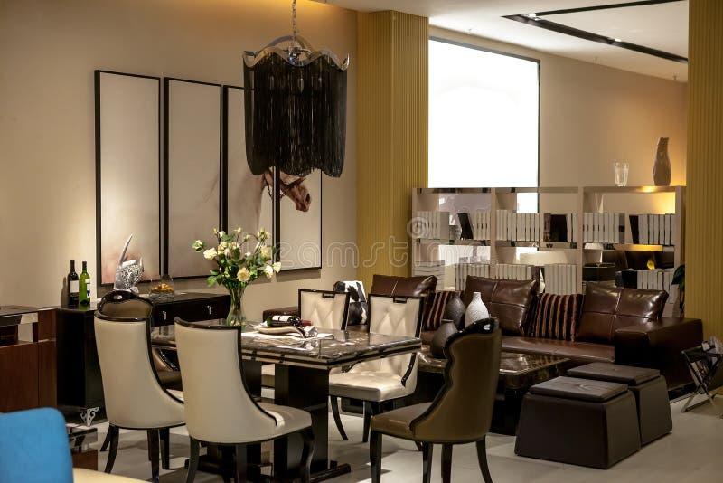 餐厅和休息室区域 免版税图库摄影