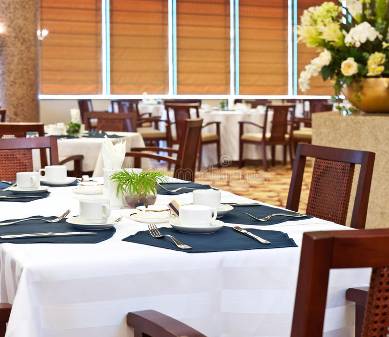 餐厅旅馆 免版税库存照片