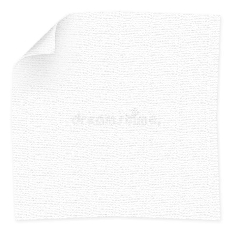 餐巾白色 免版税库存图片