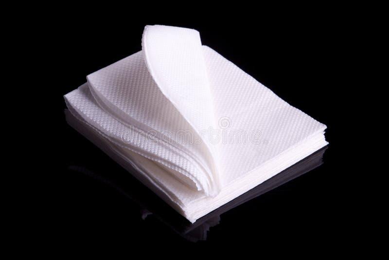 餐巾纸张 免版税库存图片