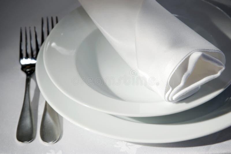 餐巾表 免版税图库摄影