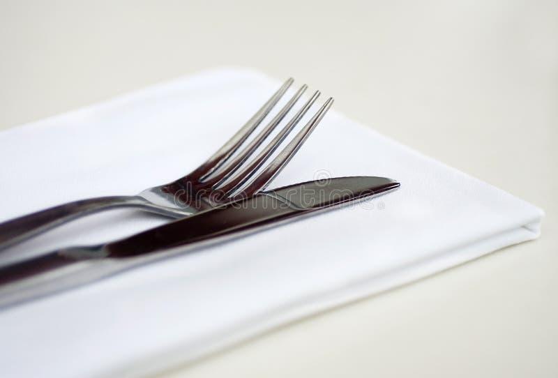 餐巾银色表穿戴 库存图片