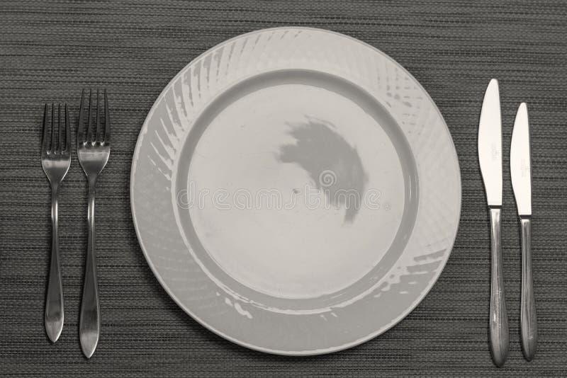 餐桌装饰品在餐馆 免版税库存照片