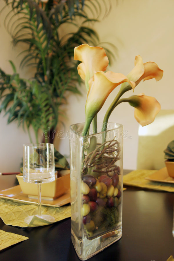 餐桌装饰 免版税库存照片