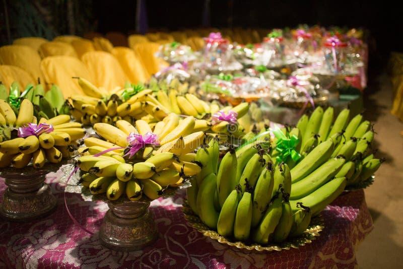 宴餐的传统柬埔寨高棉婚礼果子食物 免版税图库摄影
