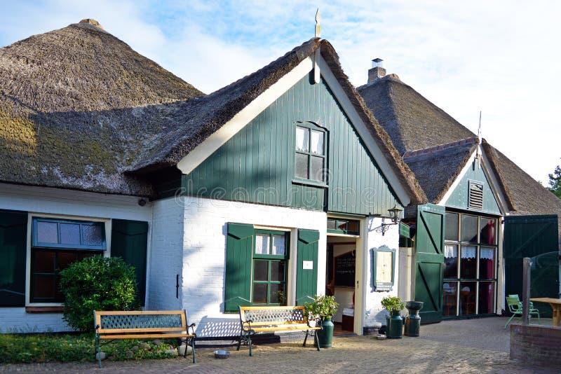 餐馆叫的'Catharinahoeve'在海岛特塞尔上 免版税库存照片
