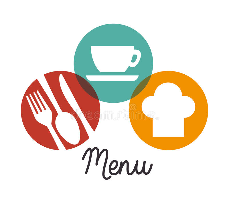 餐馆和厨房餐具 向量例证
