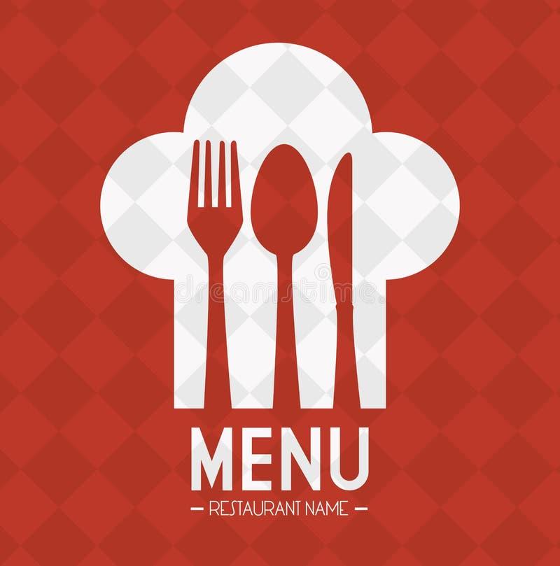 餐馆和厨房餐具 皇族释放例证