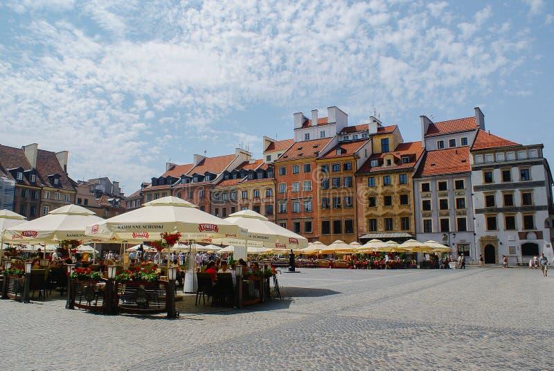 餐馆和客栈在老城市华沙 免版税图库摄影