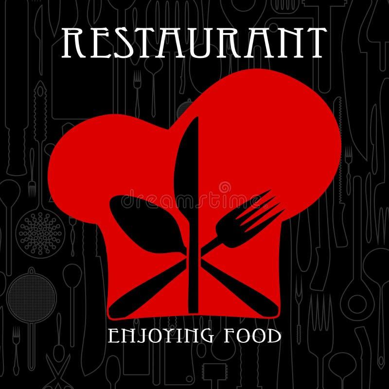 餐馆和美食术 皇族释放例证
