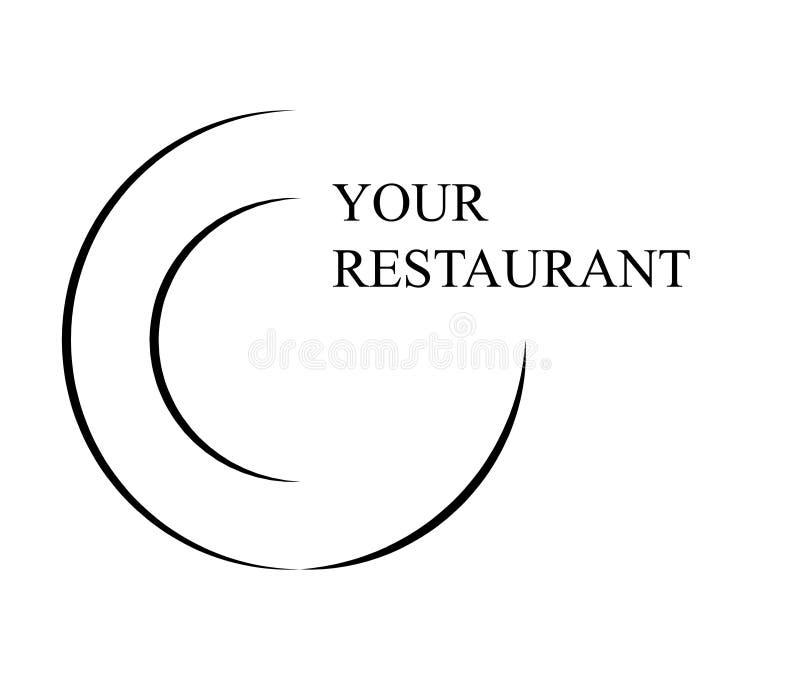 餐馆商标传染媒介标志象设计 皇族释放例证