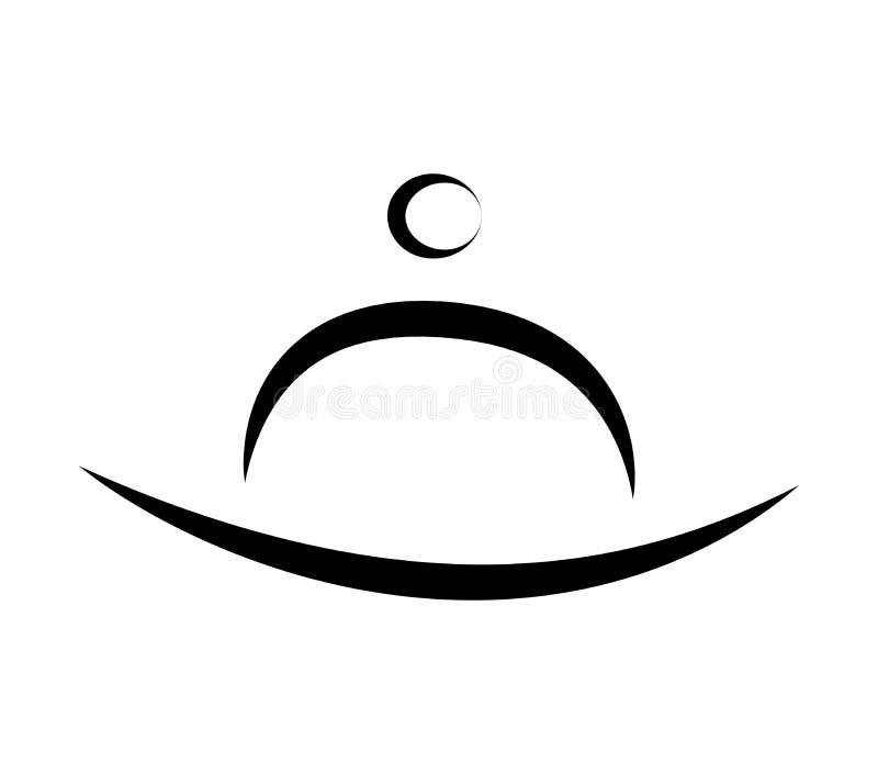 餐馆商标传染媒介标志象设计 库存例证