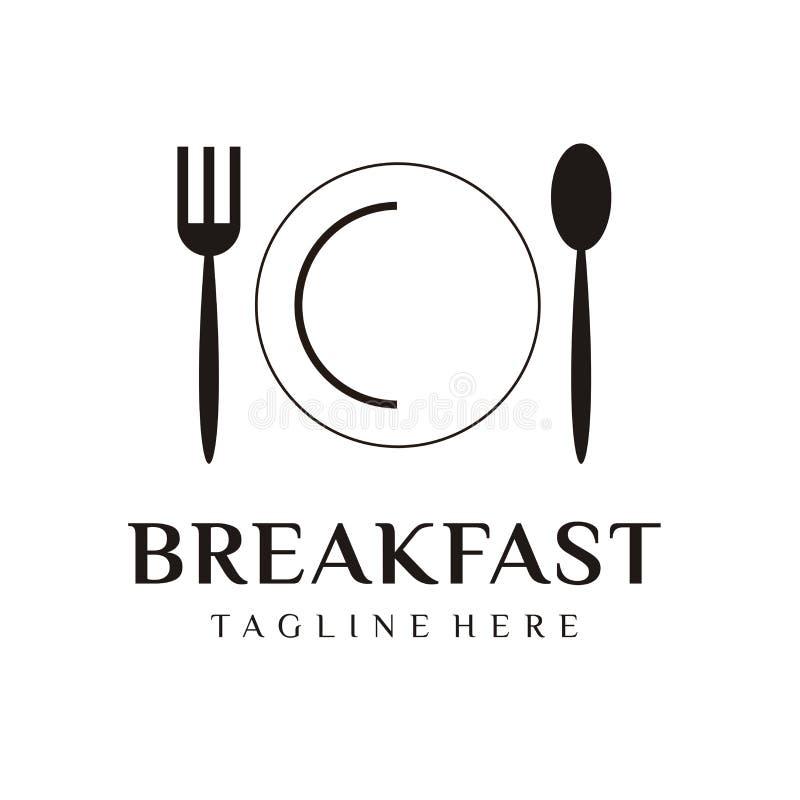 餐馆商标设计或厨师象 向量例证