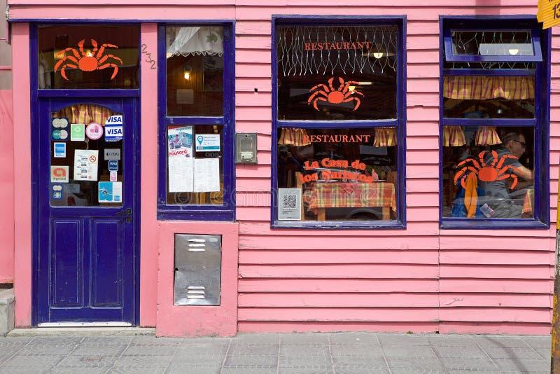 餐馆在乌斯怀亚,阿根廷 库存照片