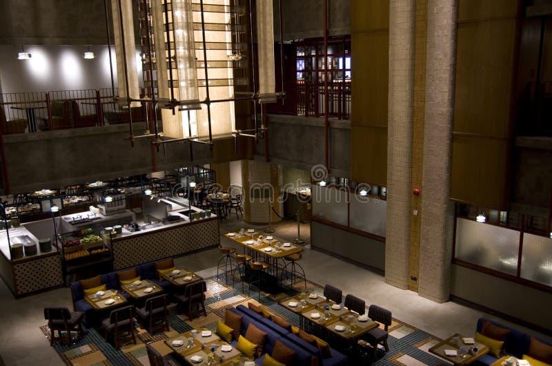 餐馆在旅馆里在香港 库存照片