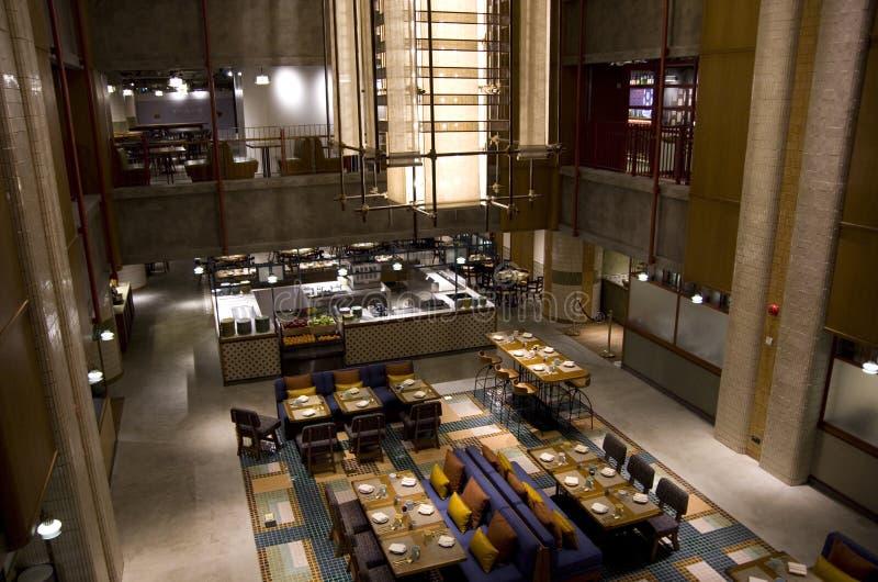 餐馆在旅馆里在香港 免版税库存图片