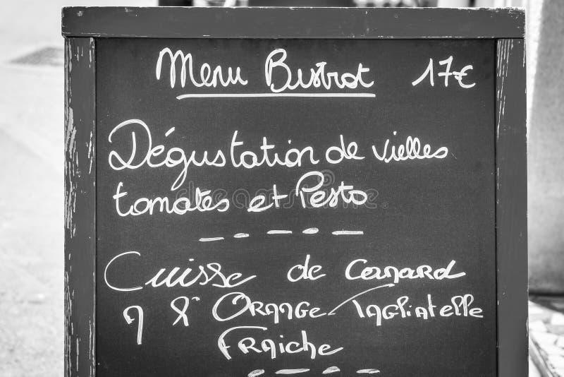 餐馆在普罗旺斯 免版税图库摄影