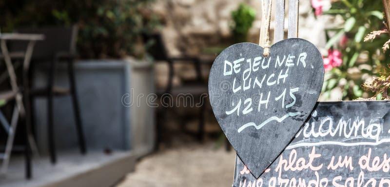 餐馆在普罗旺斯 库存图片