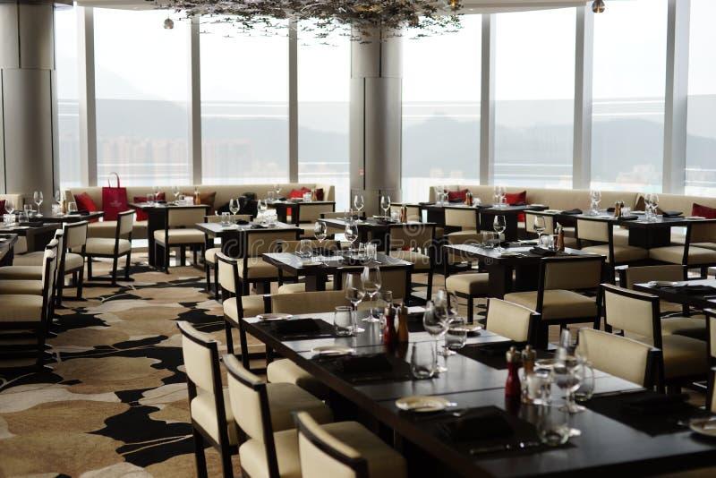 餐馆在Crowne广场饭店 免版税库存图片