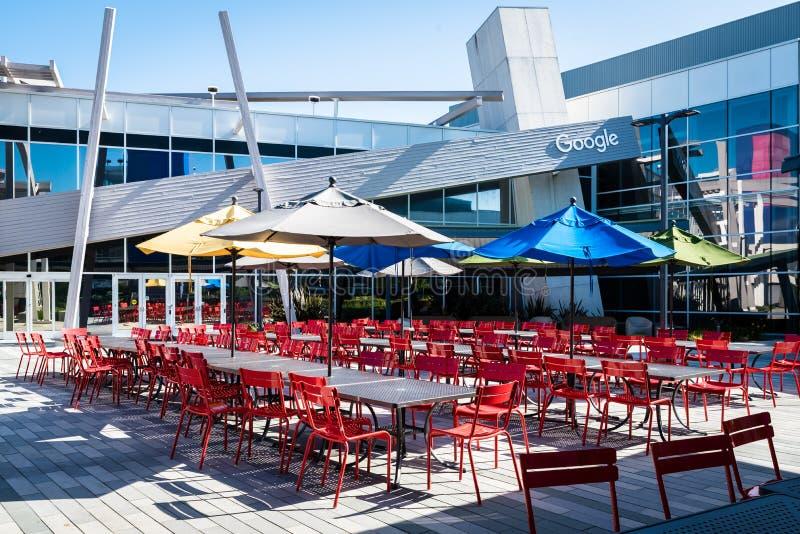 餐馆在Googleplex -谷歌总部 库存图片