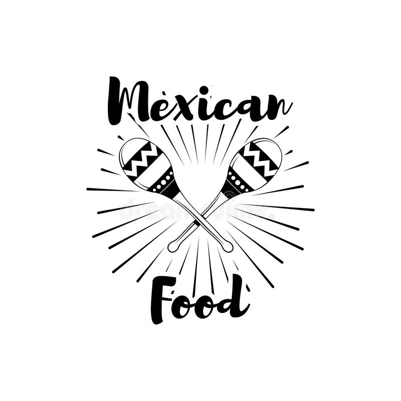 餐馆墨西哥烹调菜单电视节目预告标志 向量例证
