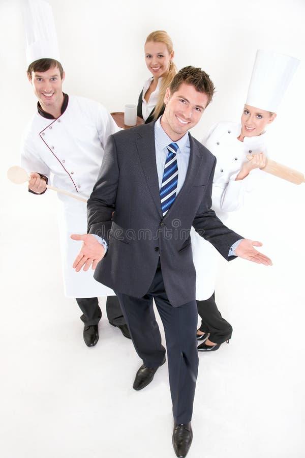 餐馆微笑的人员 图库摄影