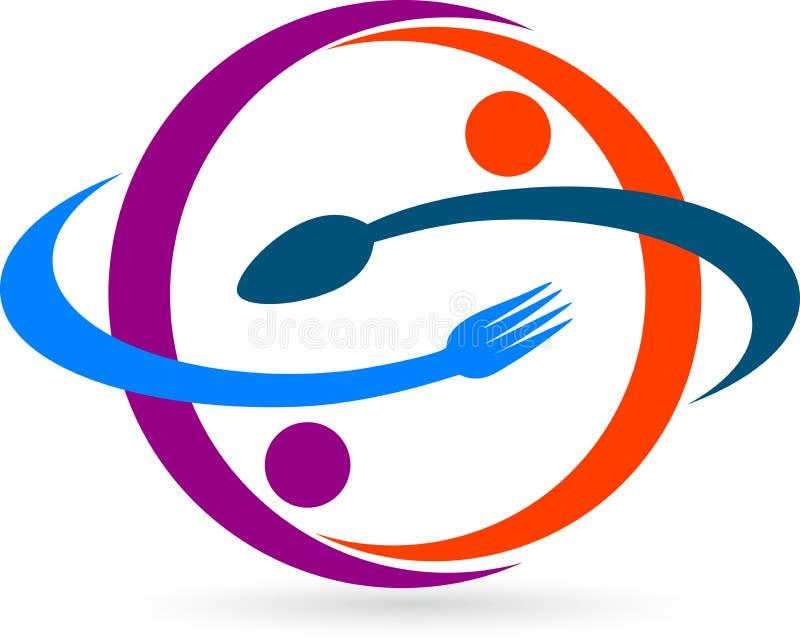 餐馆徽标 向量例证