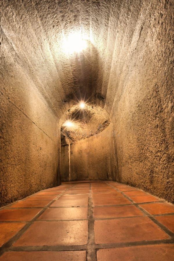 葡萄酒库的地下室 库存照片