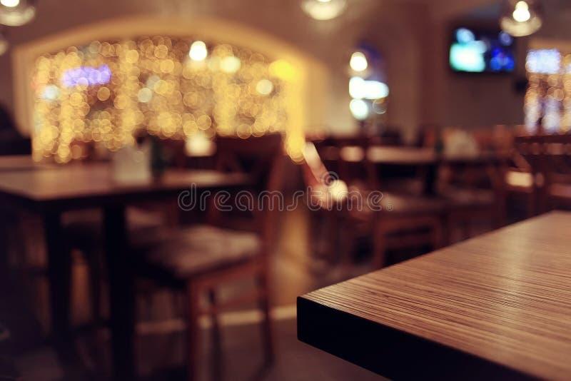 餐馆的迷离内部 库存照片