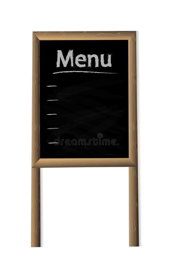 餐馆的,酒吧,在丝毫隔绝的广告现实菜单板 向量例证