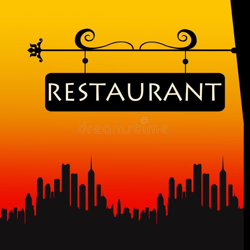餐馆符号 向量例证