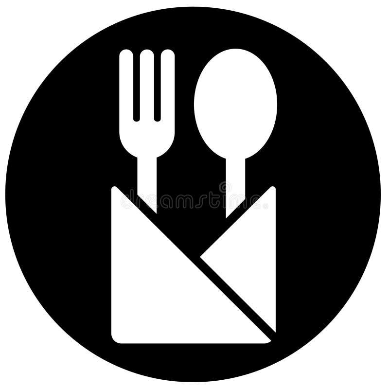 餐馆符号 皇族释放例证
